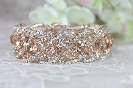 rose rhinestone bracelet images Budget bling affordable bridal jewelry under 50 smart budget jpg