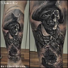 33 best pirate skeleton tattoos
