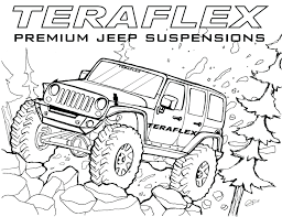 cute jeep drawing jeep grand cherokee coloring pages car police rubicon army in