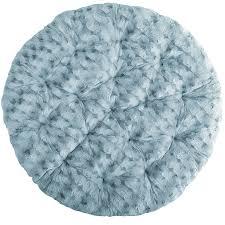 Papasan Ottoman Fuzzy Smoke Blue Papasan Cushion Pier 1 Imports