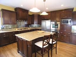 Kitchen Color Ideas With Dark Cabinets Home Design Brilliant Stained Beadboard Backsplash With Regard
