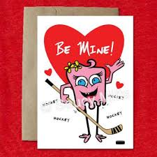 hockey valentines cards hockey cards for saucy mitts hockey