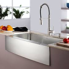 single kitchen sink faucet kraus khf200 33 kpf1612 ksd30ss 33 farmhouse single bowl
