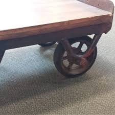cast iron factory cart wheels tags astonishing cart coffee table