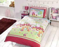 girls cotton bedding kids childrens single bed size girls boys duvet cover quilt set