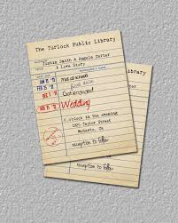 beautiful library card invitation template 68 in ruby wedding
