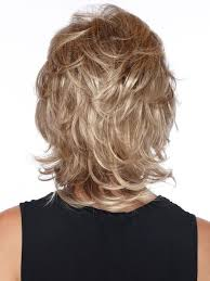 hair with shag back view estetica designs angela wig capless mid length shag with soft