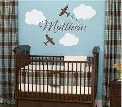 nice baby bedroom with aviation wall decor home decorations
