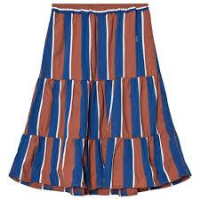 Blue Awning Bobo Choses Rust And Blue Awning Stripes Long Skirt Alexandalexa