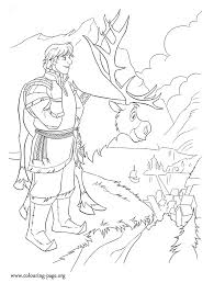 frozen coloring pages elsa coronation kristoff and sven are going to arendelle to sell ice at elsa s