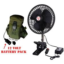 12 volt clip on fan universal hanging cing tent or table fan and 12 volt power pack