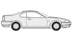 cartoon sports car black and white how to draw a honda prelude как нарисовать honda prelude youtube