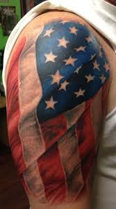 american flag tattoo design for your shoulder photo 3 real