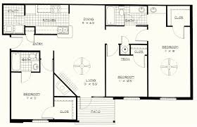 Bath Floor Plans 3 Bedroom 2 Bath Apartment Floor Plans Home