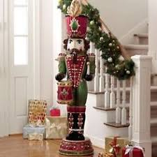 Metal Toy Soldiers Christmas Decorations by 5 Feet Tall Musical Nutcracker With Lights Nutcrackers