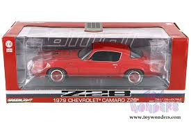 79 camaro model car 1979 chevy camaro z28 top 12901 1 18 scale greenlight