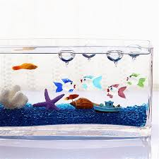 aquarium floating blown glass fish crab colorful micro fish