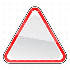 triangle blank road sign template vector clipart image 12944