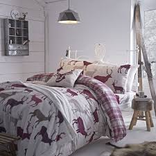 Bed Linen Sets Uk Winter Flannelette Grian Stag Mulberry Warm Bed Linen Cheap Uk
