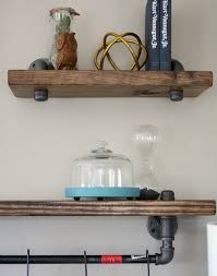 industrial pipe and wood bookshelves craft thyme