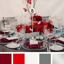 Red And Silver Wedding Red And Silver Table Decorations Black White Reception Tables