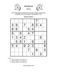 free sudoku puzzles mathsphere