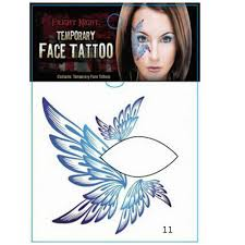 big wing temporary tattoo sticker face eye shadow stickers fancy