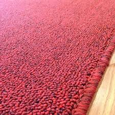 Red Runner Rug Pure Red 26 Inch Wide Rubber Backed Finished Runner Price Is