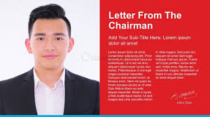 chairman s annual report template letter from the chairman powerpoint template slidemodel