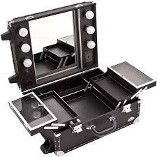 professional makeup station professional desktop rolling makeup station light mirror leather