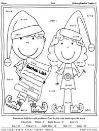 christmas math worksheets u2013 addition and first then logic