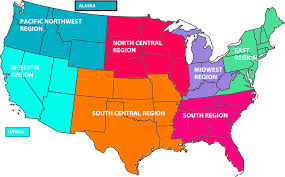 Western Usa Map by North West Us Plant Hardiness Zone Map Mapsofnet Raymond D North