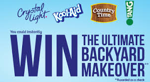 Backyard Makeover Sweepstakes by Kraft Foods Win The Ultimate Backyard Makeover Instant Win Game