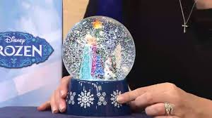 light up snow globe disney s frozen musical snowglobe with light and snow in giftbox
