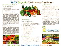 organic answers create balance with organic answers earthworm
