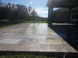 Travertine Patio Silver Travertine Patio Elite Pavers Of Tampa Bay