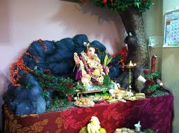 varada art ganapati makhar and decoration