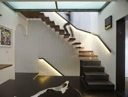 Contemporary Staircase Design Outdoor Modern Staircase Design With Colored Led Lights
