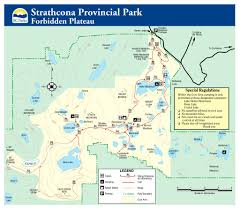 Victoria Falls Map Mt Albert Edward Trail Guide Strathcona Provincial Park By Lonny