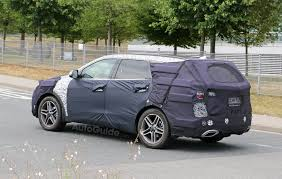 hyundai crossover 2015 2016 hyundai santa fe three row facelift spied testing autoguide
