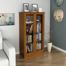 Bookshelves Glass Doors by 4 Shelf Glass Door Barrister In Inspire Cherry 34825