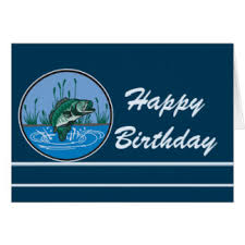 bass fishing birthday cards greeting photo cards zazzle