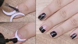 nail art using vinyl french manicure stickers beginners series