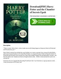 harry potter et la chambre des secrets pdf pdf harry potter and the chamber of secrets epub by