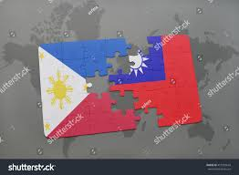 Philippines On World Map by Puzzle National Flag Philippines Taiwan On Stock Illustration