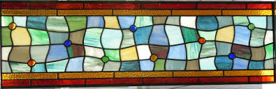 octagon stained glass window vintage style stained glass baltimore washington dc