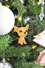 Chihuahua Christmas Ornaments My Home Style Christmas Tree 2017 Monica Wants It