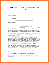 residential lease agreement template word simple bill format