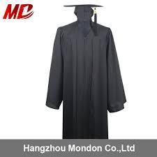 black graduation cap and gown wholesale matte black graduation gown with the hat tassel buy