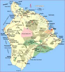 map of hawaii cities hawaii big island map